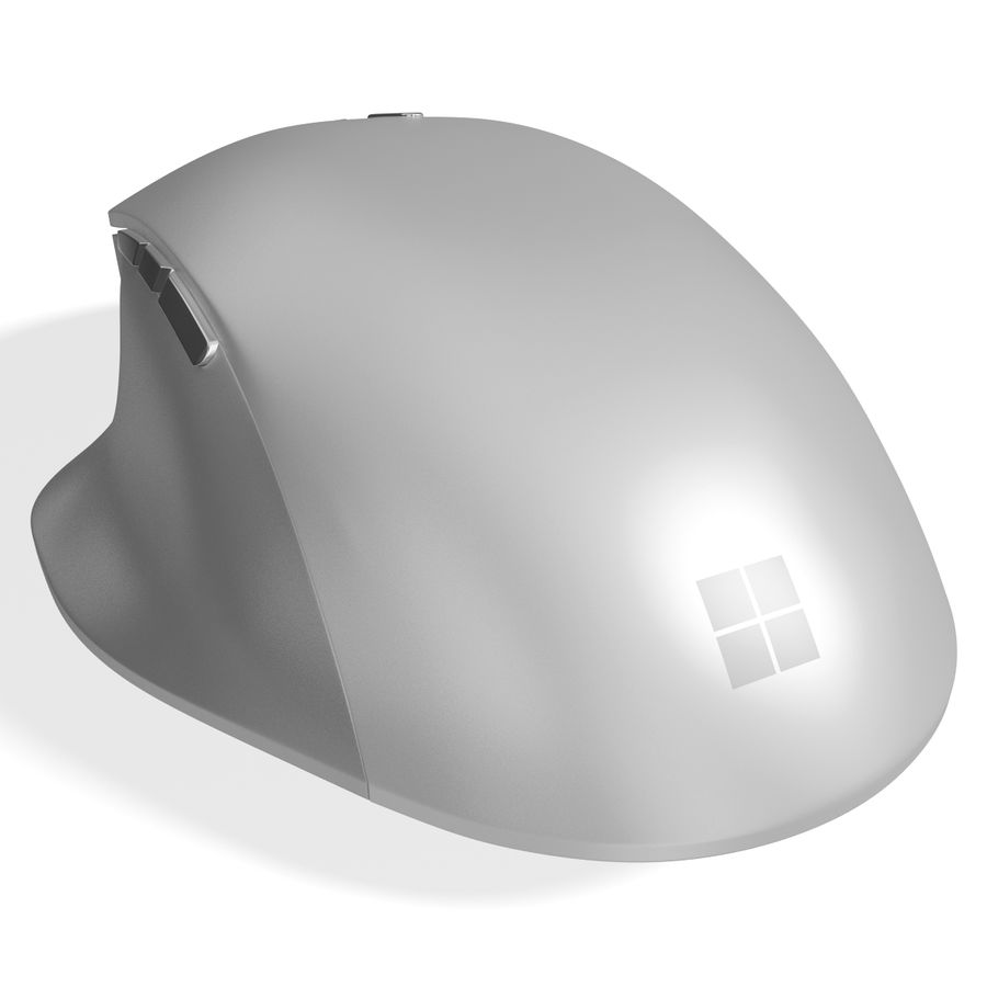 Microsoft Precision Mouse royalty-free 3d model - Preview no. 3