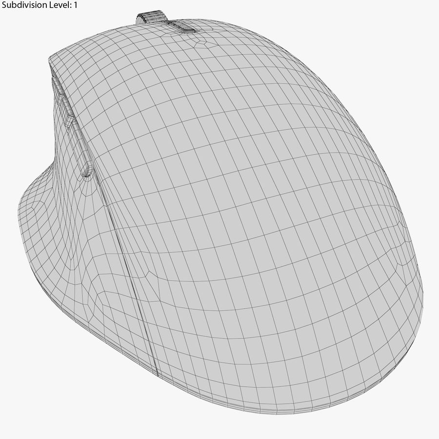 Microsoft Precision Mouse royalty-free 3d model - Preview no. 8