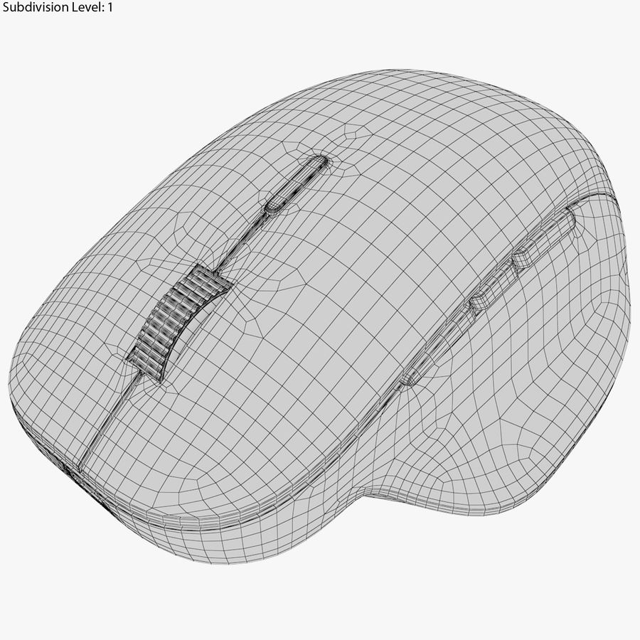 Microsoft Precision Mouse royalty-free 3d model - Preview no. 6