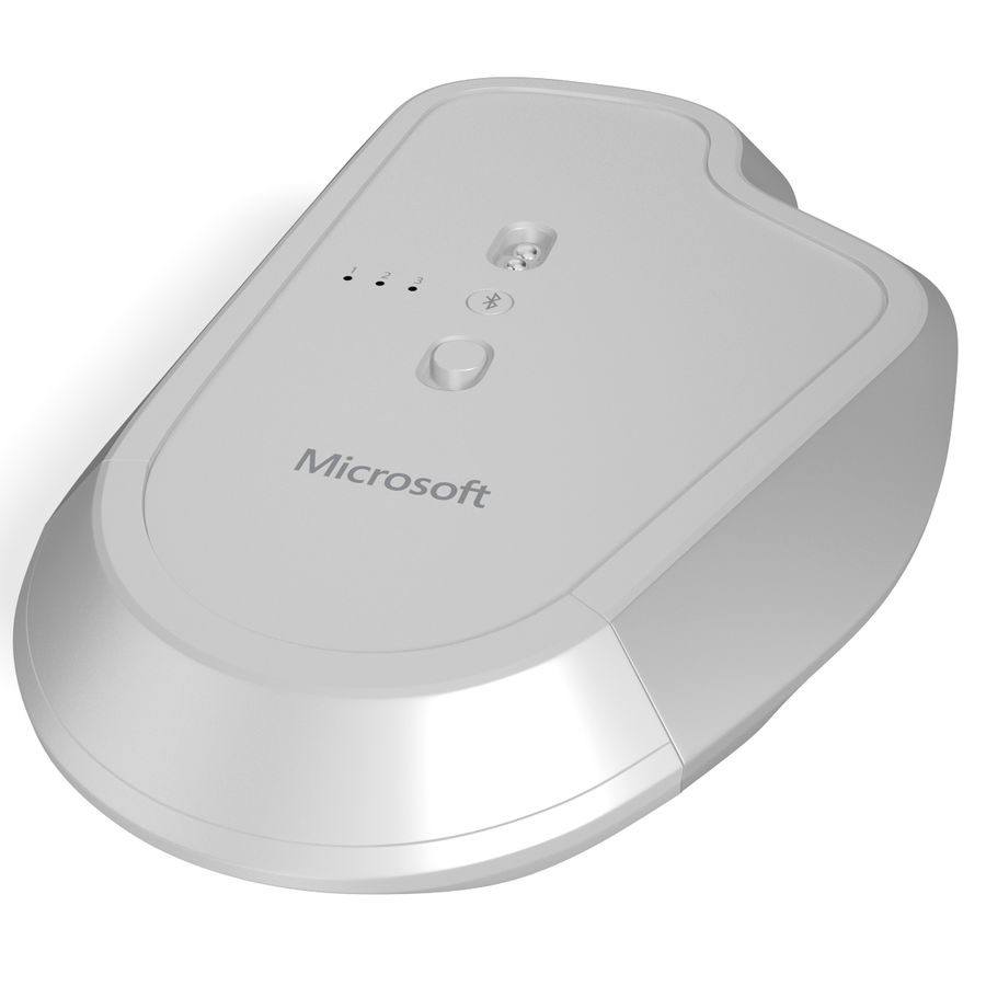 Microsoft Precision Mouse royalty-free 3d model - Preview no. 4