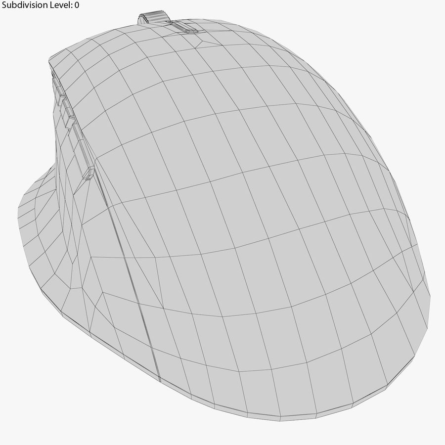 Microsoft Precision Mouse royalty-free 3d model - Preview no. 7