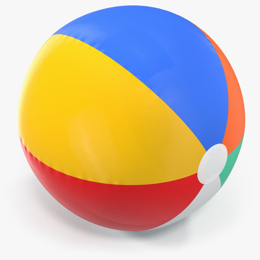 Inflatable Rainbow Color Beach Ball royalty-free 3d model - Preview no. 1