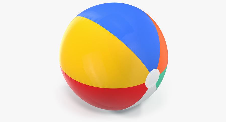 Inflatable Rainbow Color Beach Ball royalty-free 3d model - Preview no. 2