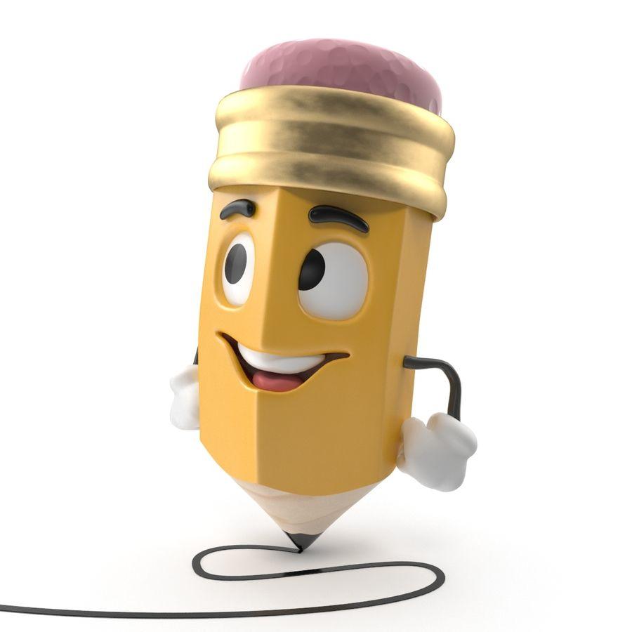 Lápis de desenho animado royalty-free 3d model - Preview no. 6