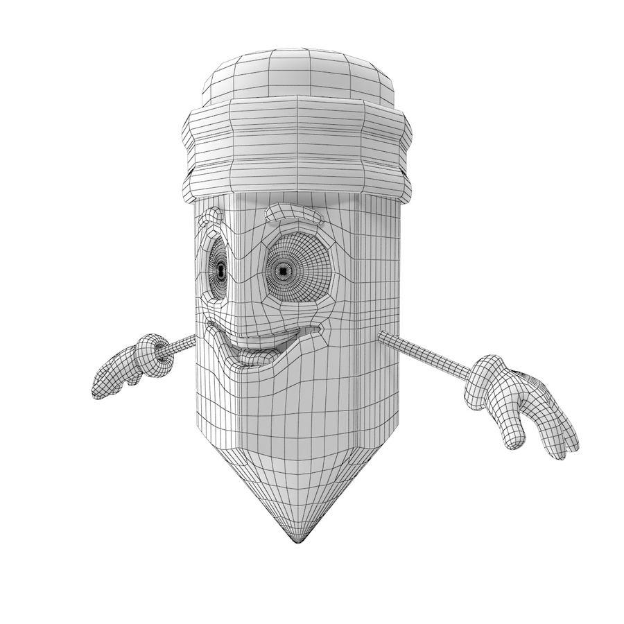 Lápis de desenho animado royalty-free 3d model - Preview no. 8