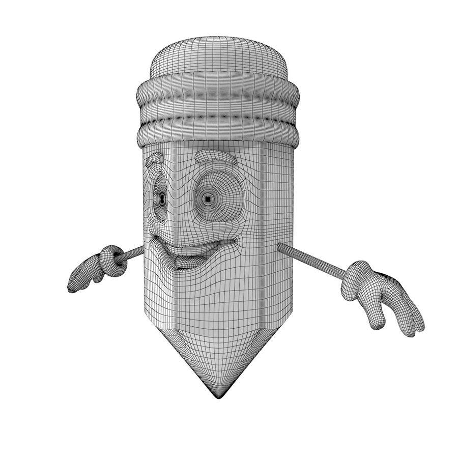 Lápis de desenho animado royalty-free 3d model - Preview no. 7