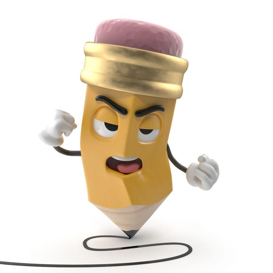 Lápis de desenho animado royalty-free 3d model - Preview no. 4