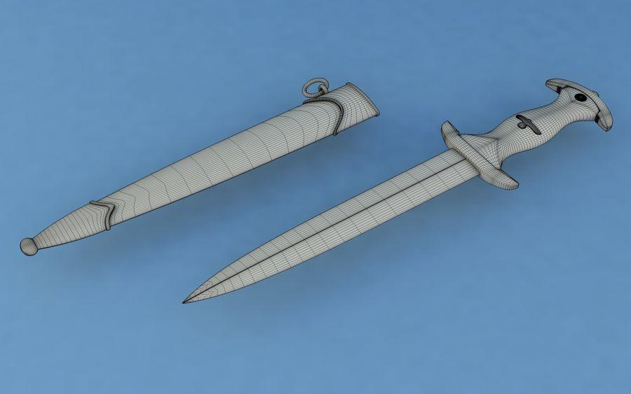 Dagger SA royalty-free 3d model - Preview no. 8