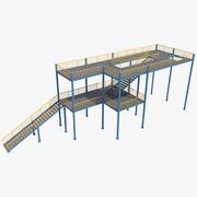 Plate-forme industrielle 2 3d model
