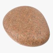 Red Granite Round Stone 3D Model 3d model