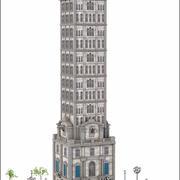 Tower Building V1 3d model
