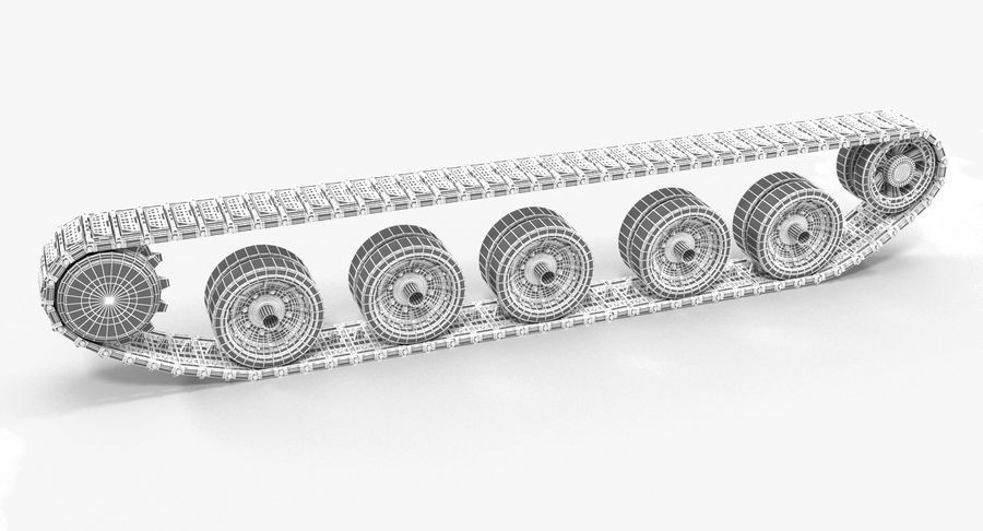 Tank Track royalty-free 3d model - Preview no. 12