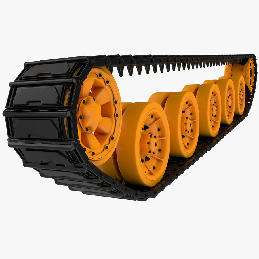 Tank Track royalty-free 3d model - Preview no. 1