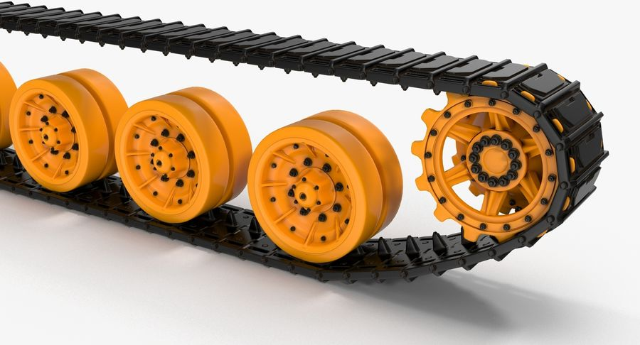 Tank Track royalty-free 3d model - Preview no. 6