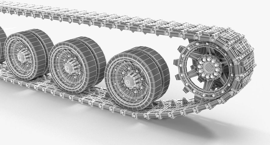 Tank Track royalty-free 3d model - Preview no. 13