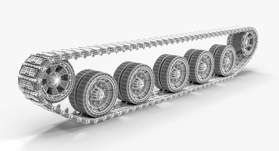 Tank Track royalty-free 3d model - Preview no. 9