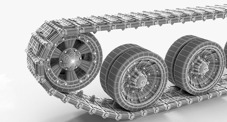 Tank Track royalty-free 3d model - Preview no. 14