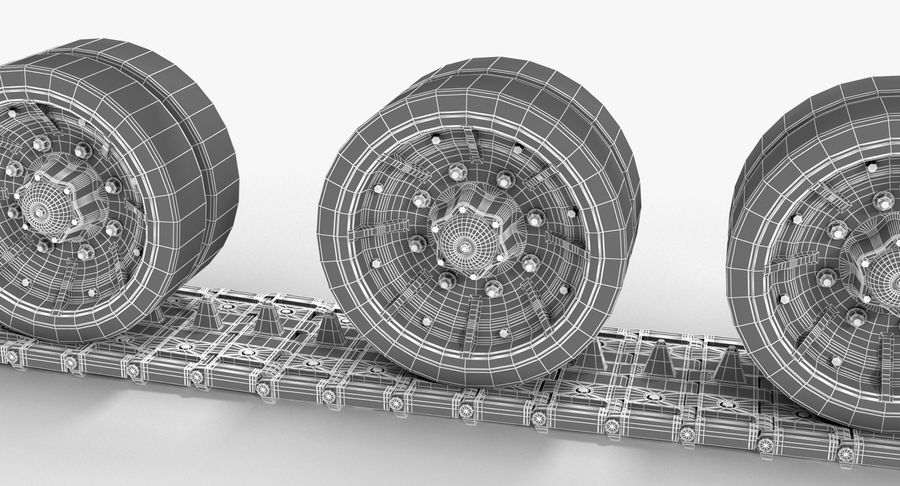 Tank Track royalty-free 3d model - Preview no. 15