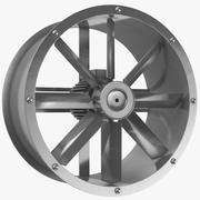 Animerad Axial Flow Fan 3d model