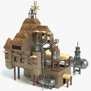 Steampunk House 3d model