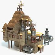 Casa Steampunk 3d model