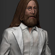 beatles John Lennon 3d model