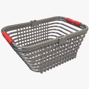 Shopping Silver Wire Basket 3d model