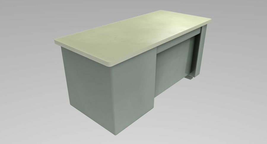 Desk Table royalty-free 3d model - Preview no. 6