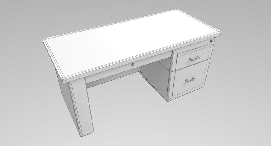 Desk Table royalty-free 3d model - Preview no. 13