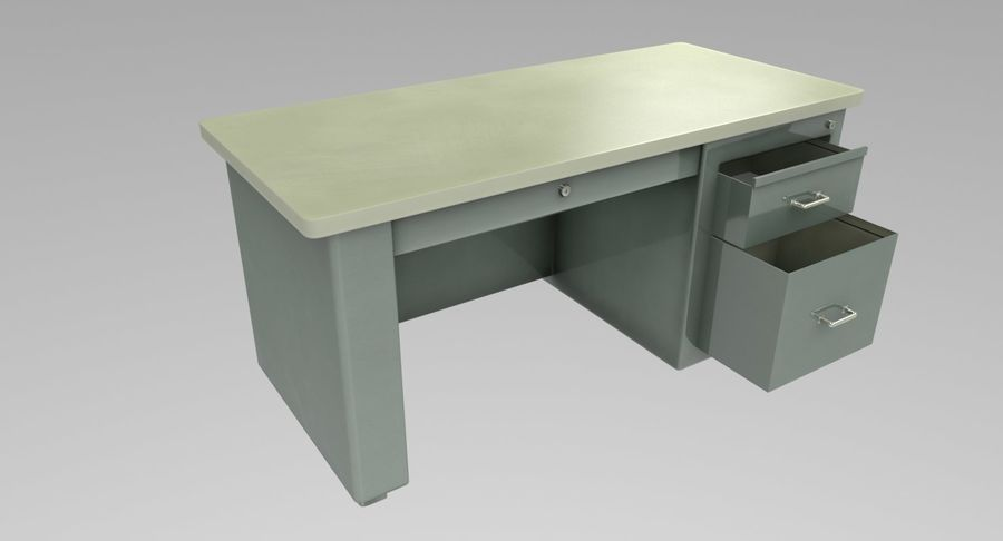 Desk Table royalty-free 3d model - Preview no. 4