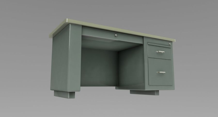 Desk Table royalty-free 3d model - Preview no. 8