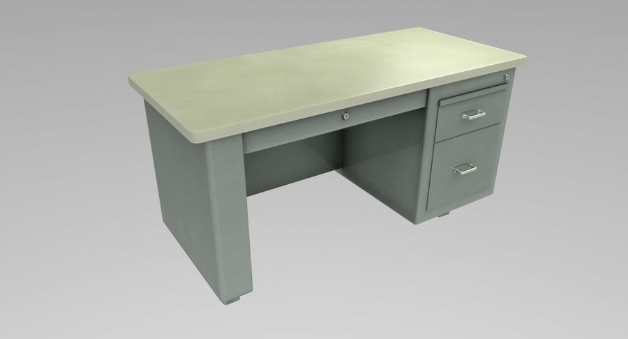 Desk Table royalty-free 3d model - Preview no. 3