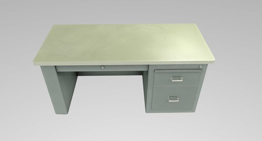 Desk Table royalty-free 3d model - Preview no. 9