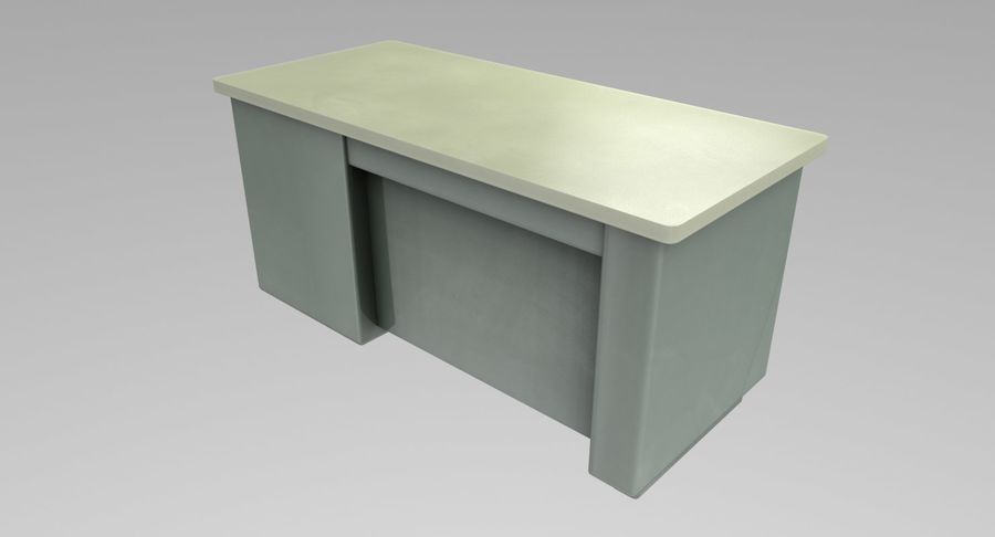 Desk Table royalty-free 3d model - Preview no. 7