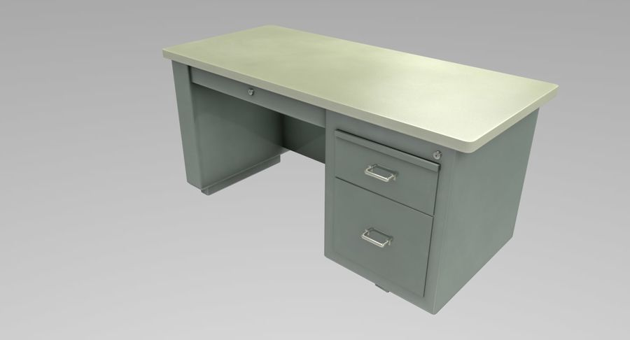 Desk Table royalty-free 3d model - Preview no. 5