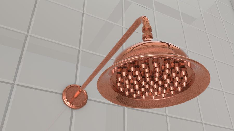 Retro Duş Başlığı royalty-free 3d model - Preview no. 3
