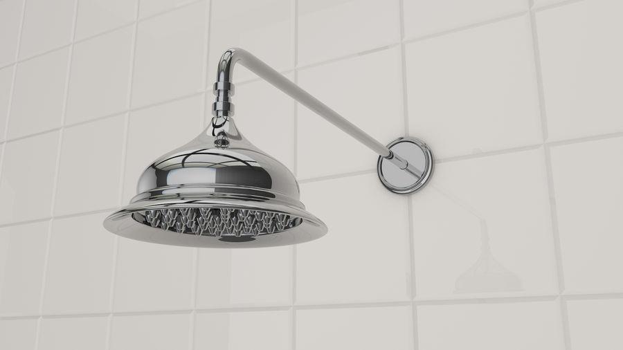 Retro Duş Başlığı royalty-free 3d model - Preview no. 2