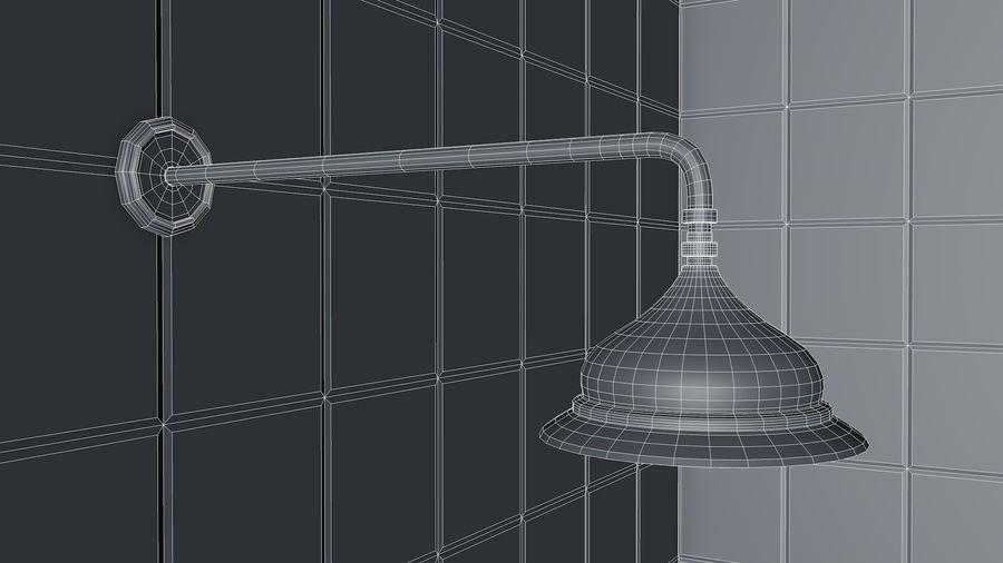 Retro Duş Başlığı royalty-free 3d model - Preview no. 7