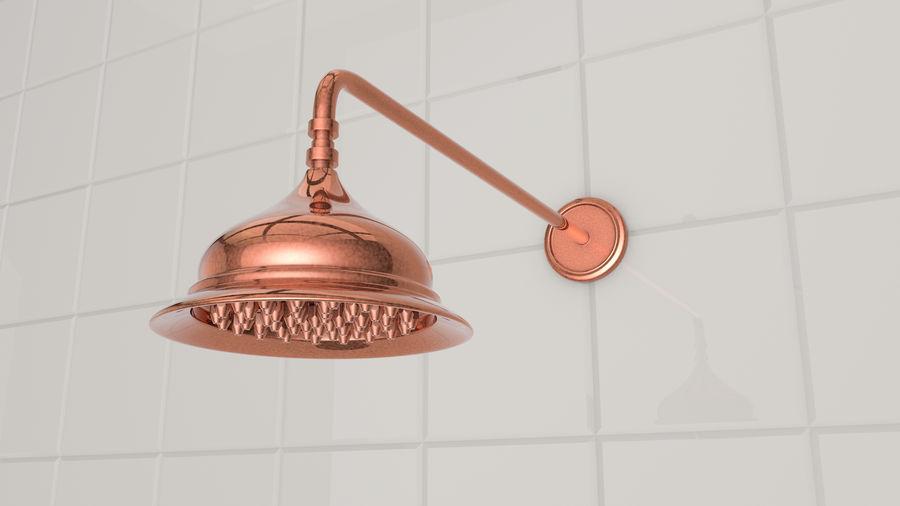 Retro Duş Başlığı royalty-free 3d model - Preview no. 1