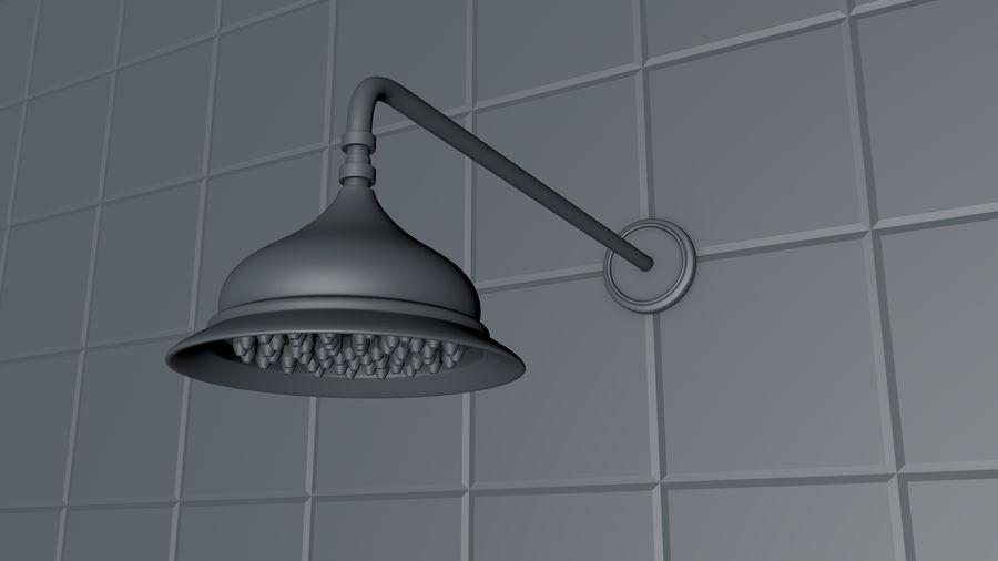 Retro Duş Başlığı royalty-free 3d model - Preview no. 11