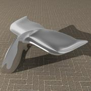 Whale tail bench 3d model
