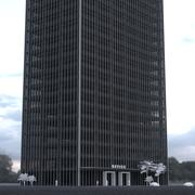 24 Story Building Wide 3d model