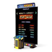Bandainamco, największa na świecie gra zręcznościowa z konsolową tablicą reklamową Pac Man 3d model