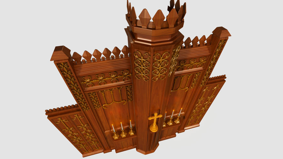 교회 제단 royalty-free 3d model - Preview no. 2