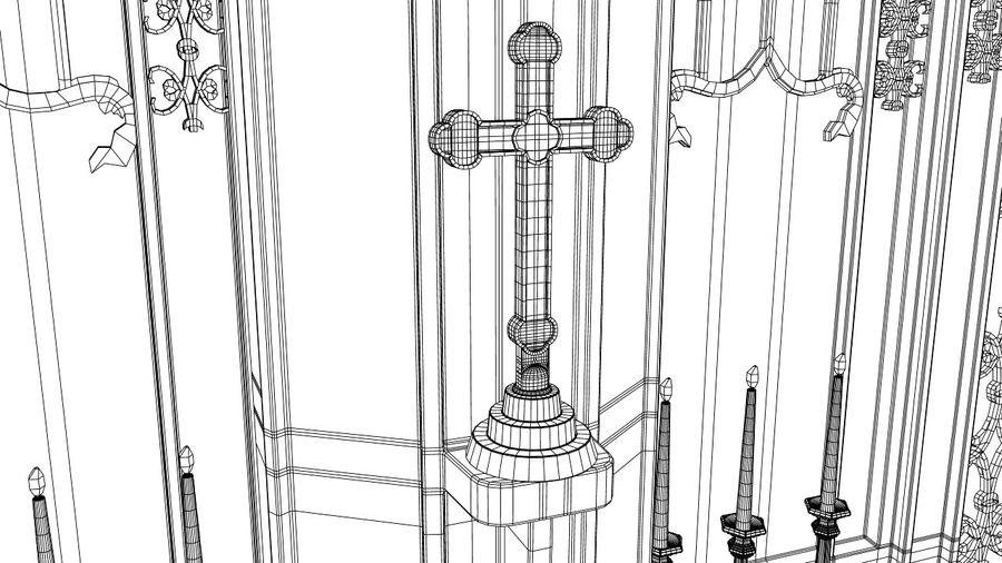 교회 제단 royalty-free 3d model - Preview no. 5