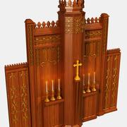 Altar da Igreja 3d model