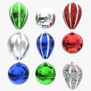 Kerstballen 3d model