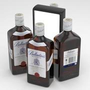 Ballantines Whisky 500ml Bottle 3d model