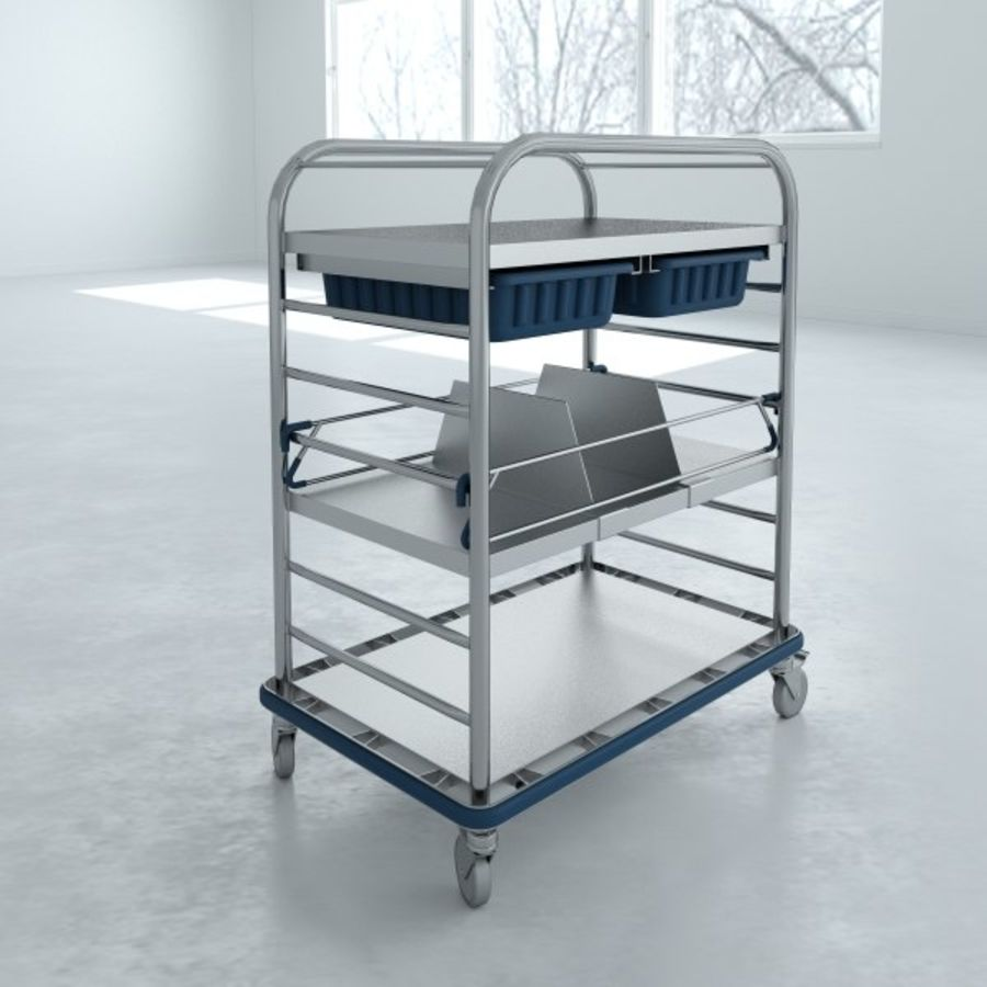 Medical Small Distribution Cart royalty-free 3d model - Preview no. 6