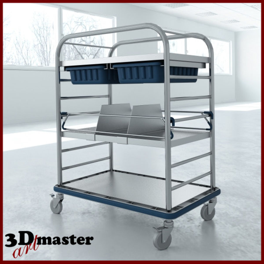 Medical Small Distribution Cart royalty-free 3d model - Preview no. 1